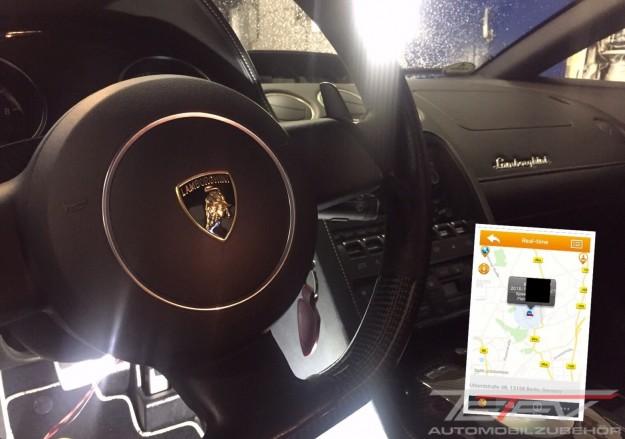 GPS-Ortungssystem im Lamborghini