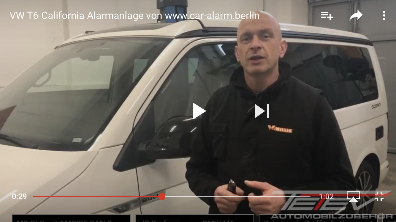 VW T6 California Alarmanlage