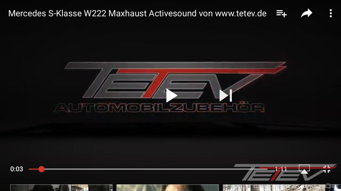 W222 Maxhaust